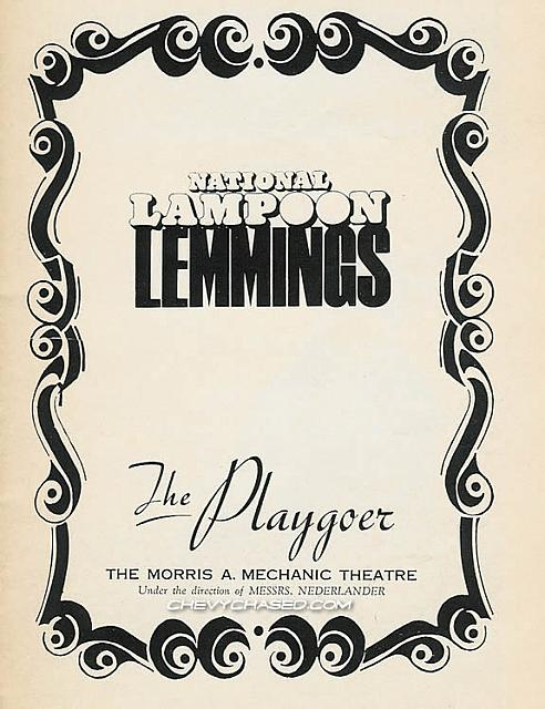 Lemmings playbill page 1